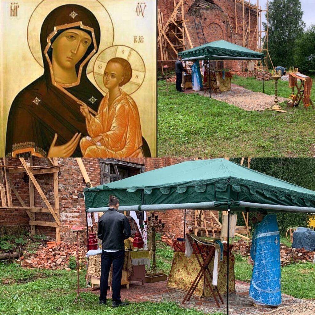 Престольный праздник Тихвинской иконы Божией Матери в селе Колычево